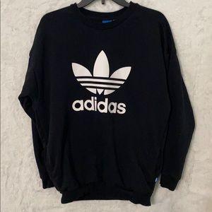 Mens adidas sweatshirt black/white